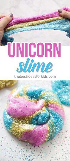 Unicorn 3 Ingredient Slime Recipe