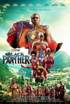 Black Panther Poster - Fierce, Strong, Warriors of the Dora Milaje. Marvel Dc, Marvel Comics, Heros Comics, Marvel Heroes, Black Panther Marvel, Black Panther 2018, Stan Lee, Black Panther Movie Poster, Film Black