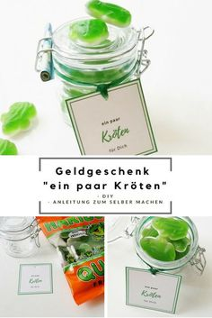 Instructions for making a money gift yourself / birthday / gift idea with money / frogs and toads / DIY it Yourself Don D'argent, It's Your Birthday, Birthday Gifts, Bath Bomb Ingredients, Diy Pinterest, Floating Shelves Diy, Diy Presents, Candy Gifts, Cool Diy Projects