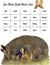 Dolch Word Lists illustrated by Jan Brett