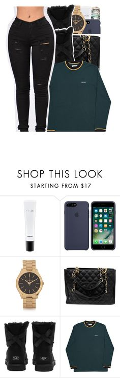 """""""motorsport """" by glowithbria ❤ liked on Polyvore featuring MAC Cosmetics, Michael Kors, Chanel and UGG Australia"""