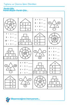 Four-day math training, numbers up to worksheet math to dyscalculia … - Education Science Math For Kids, Fun Math, Math Games, Math Activities, 1st Grade Math, Kindergarten Math, Teaching Math, Math Addition, Montessori Materials