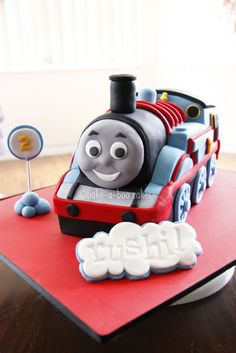 Best Thomas cake ever!  From Bake-A-Boo