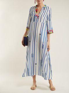 Le Sirenuse, Positano Giada Afrika striped cotton dress