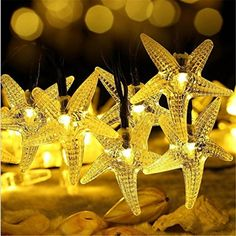 $11.47  - Highpot Solar Starfish String Lights 30 LED Window Curtain Lights Lamp Home Party Decor Yellow ** Check out this great product. (This is an affiliate link) #StringLights
