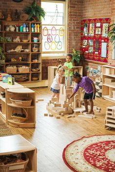 With all the evidence linking good spatial skills with future achievement in all STEM areas, we must find a way to bring back block play. Block Play, Classroom Environment, Learning Through Play, Early Childhood, Kids Rugs, Future, Blog, Kid Friendly Rugs, Future Tense