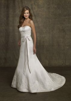 wedding dresses wedding dresses 2014 wedding dresses vintage lace a-line  strapless chapel train satin wedding dress for brides 176a19e21f89