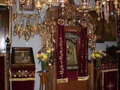 Μ. Ελώνης Blessed Virgin Mary, Mother Mary, Beautiful Lights, Miraculous, Arcadia Greece, Oppression, Cliff, Holiday Decor, God