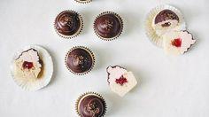 a strawberry twist on the decadent hi-hat cupcake.