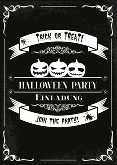 einladung zur halloween / grusel party | halloween | pinterest, Einladung