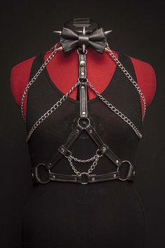 Leather & Chain Harness Bow Tie by JakeSimp on Etsy, $250.00