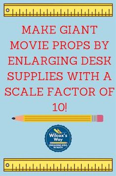 3 fun lessons on scale and ratio based on movie clips from Lord of the Rings, Ant Man and Mythbusters Teaching Shapes, Teaching Math, Teaching Tips, Math Resources, Math Activities, Teacher Tools, Math Tools, Teacher Stuff, Math Enrichment