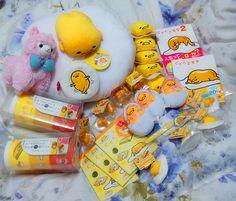 ROSY'S GARDEN | (10.5cm) Gudetama Lazy Egg Mame Petit Mascot Plush Toy (Tsum Tsum style) | Online Store Powered by Storenvy