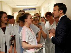 """#Hôpitaux: Macron, interpellé par des infirmières, promet des mesures """"très importantes"""" - Sciences et Avenir: Sciences et Avenir Hôpitaux:…"""