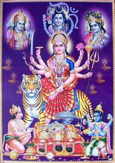 Navratri Puja will help you overcome all your negativities. Flourish with wealth on this Navratri by offering Homam to Lakshmi, Saraswathi & Durga. Maa Durga Image, Durga Kali, Saraswati Goddess, Goddess Lakshmi, Shiva Shakti, Durga Puja, Kali Hindu, Kali Mata, Shiva Parvati Images
