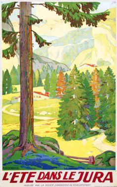 Vintage Travel Poster - L'été dans le Jura.