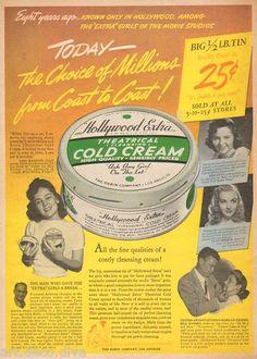 1940s Vintage Hollywood Cold Cream Beauty Rabin Makeup Artist Movie Star Ad | eBay