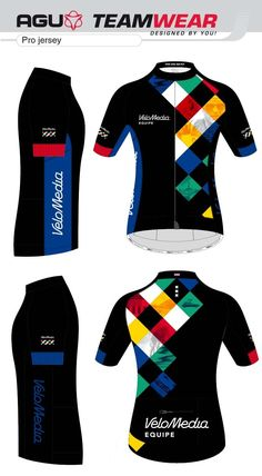 DESIGN YOUR OWN cycling jersey by AGU // Customized Cycling Apparel, designed for Velomedia, Amsterdam (Netherlands). Interested -> teamwear@agu.nl