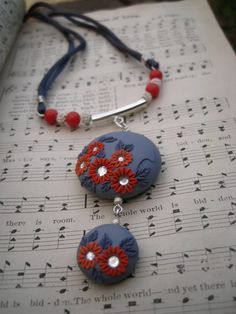 Moobie Grace Polymer Clay Necklace by MoobieGraceDesigns