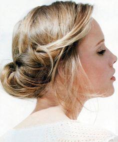 brudehår, bryllupsfrisure, knold, chignon, nem frisure