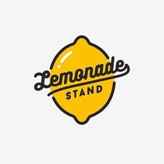 "Logo and Type Design Club on Instagram: ""Lemonade stand 🍋 your thoughts 🤔? Follow us for more Logotypeclub. Work by @abrate_emanuele. - Learn logo design, take a look at our…"""