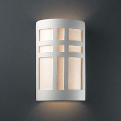 Ambiance Verde Patina Small Cross Window Outdoor Wall Sconce - (In FFF-Verde Patina(PATV))