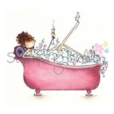 Stamping Bella Cling Rubber Stamp Uptown Girl Bubbles Loves Her BubblyStamping Bella Cling Rubber Stamp Uptown Girl Bubbles Loves Her Bubbly,