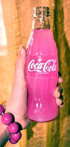 PINK, COTTON CANDY FLAVORED COKE, IN GLASS BOTTLES !
