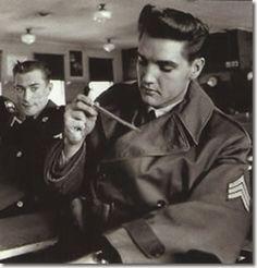Elvis Presley In The U.S. Army 1958-1959 (kyle is a tanker just like my favorite man!!)