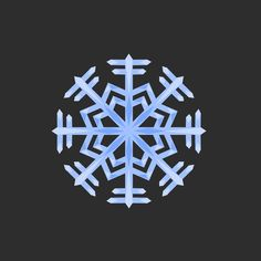 Snowflake Clip Art - Snowflake Illustration - Winter Clip Art Watercolor Texture, Winter Theme, Snowflakes, Clip Art, Symbols, Illustration, Instagram Posts, Artwork, Work Of Art