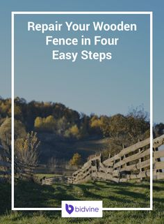 Have you got a wobbly fence? Follow these four easy steps to fix a wooden fence…