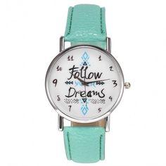 Fashion Women Leather Band Analog Quartz Wrist Watch