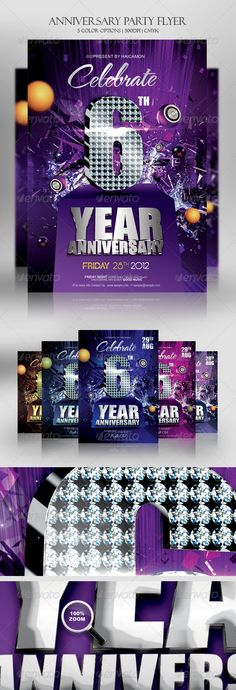 Anniversary Party Flyer Template Party flyer, Flyer template and - anniversary flyer