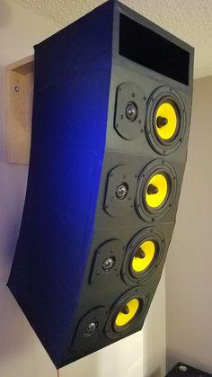 Home theaters bocinas Best Subwoofer, Subwoofer Box Design, Speaker Box Design, Audiophile Speakers, Diy Speakers, Built In Speakers, Wireless Speakers, Dayton Audio, Woofer Speaker