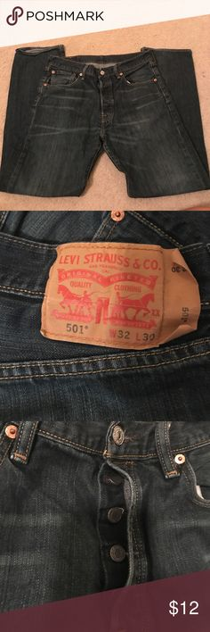 Levi's jeans 32x30 These jeans are in great condition, and are pretty light-weight. My husband just outgrew them. Levi's Jeans Straight