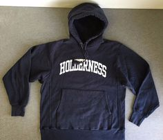 HOLDERNESS CHAMPION REVERSE WEAVE Sweatshirt 90S Vtg Hoodie College Men's XL  #Champion #Hoodie
