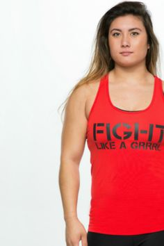 That's right grrrls!  We heard all of your requests, and have taken our best selling shirt, and flagship design, and made it available in a glowing red tank top!Whatever your fight may be: MMA, Muay Thai, BJJ, TKD, addiction, adversity.... fight it like a GRRRL!This tank top is made of the same 95% soft AF, pre-shrunk cotton (and 5% spandex for a little bit of stretch) you know and love from our other tank tops.