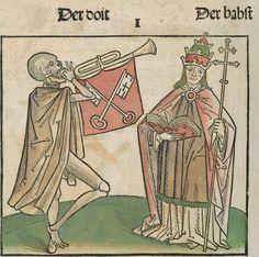 Der doten dantz mit figuren, clage vnd antwort schon von allen staten der werlt [Heidelberg] : [Heinrich Knoblochtzer], [nicht nach 1488] Ink T-398 / Im.mort. 1 Folio 11