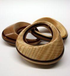 Handmade wooden baby rattle keepsake