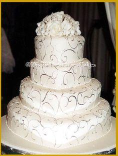 Beautiful designed heart shaped cake