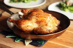 Weeknight Roasted Chicken. A very easy recipe that's ready in less than an hour!