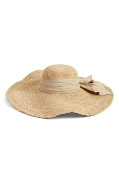 Flora Bella Crochet Raffia Floppy Hat available at #Nordstrom