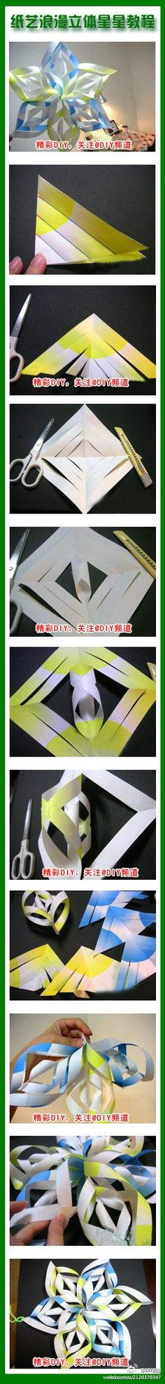 DIY Modular 3D Paper Star DIY Projects