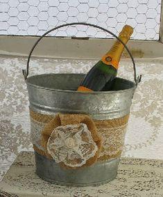 dekor vedra dlja shampanskogo meshkovinoj
