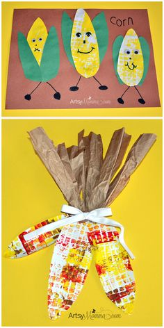 Thanksgiving Corn Crafts for Kids - repinned by @PediaStaff – Please Visit ht.ly/63sNtfor all our pediatric therapy pins