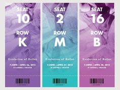 Revisited an event identity to update the ticket design