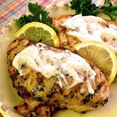 """Grilled Lemon & Yogurt Chicken 