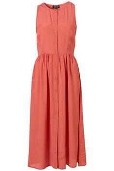 topshop button front midi dress