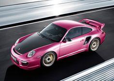 Pink 2011 Porsche 911 GT2 RS
