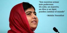 Un niño, un maestro, un libro y un lápiz pueden cambiar el mundo - Malala Yousafzai